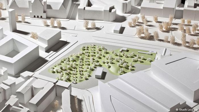 One of the designs for a planned memorial to the Peaceful Revolution of 1989 in Leipzig. (c) City of Leipzig