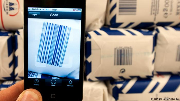 Barcodes have evolved over the years. Some are long, some are short. Most have numbers attached to them, others don't like these packages of sugar in a Berlin supermarket