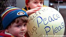 Frieden Nordirland Kinder Ballon Symbolbild