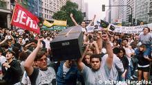Brasilien Geschichte Massendemonstrationen gegen Präsident Fernando Collor de Mello