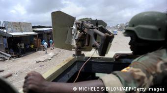 African Union peacekeepers patrol the outskirts of Mogadishu Photo:SIMON MAINA/AFP/