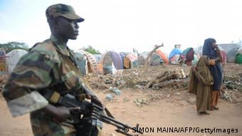 An African Union Ugandan soldier Photo SIMON MAINA/AFP/GettyImages)