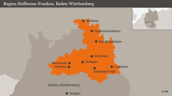 Region Heilbronn Franken Karte.Die Region Der Weltmarktführer Alltagsdeutsch Podcast Dw