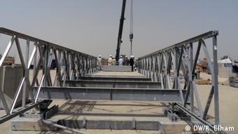 Afghanischer Brückenbau in Lashkargah (Foto: DW)