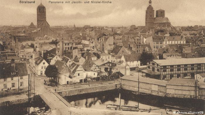 Штральзунд на почтовой карточке 1900 года