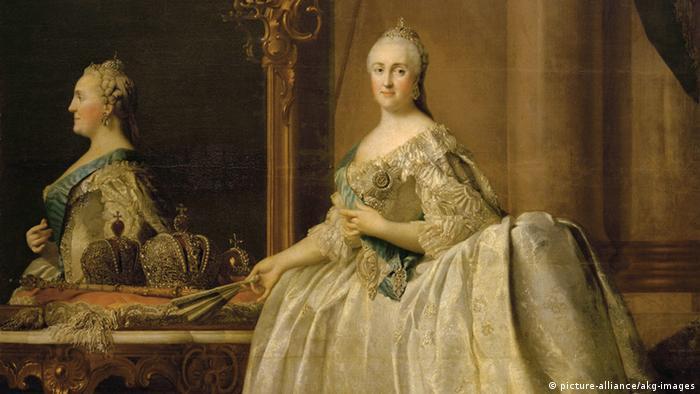 Екатерина Вторая перед зеркалом. Портрет работы Вигилиуса Эриксена (1762)