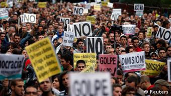 Madrid Demonstration gegen Sparpolitik