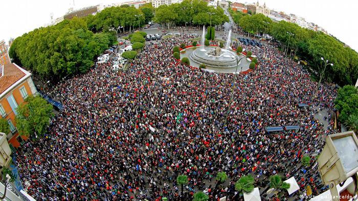 Tercera protesta de la semana en Madrid