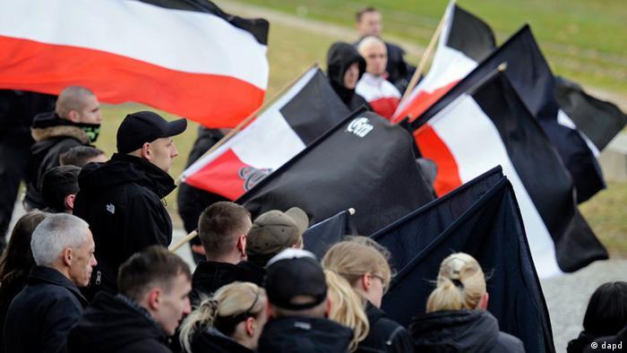 Manifestación de neonazis en Gera, Este de Alemania.