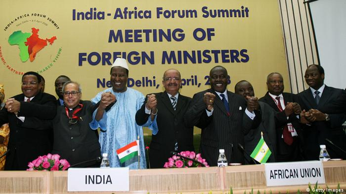 Indien Einfluss in Afrika India-Africa Forum Summit