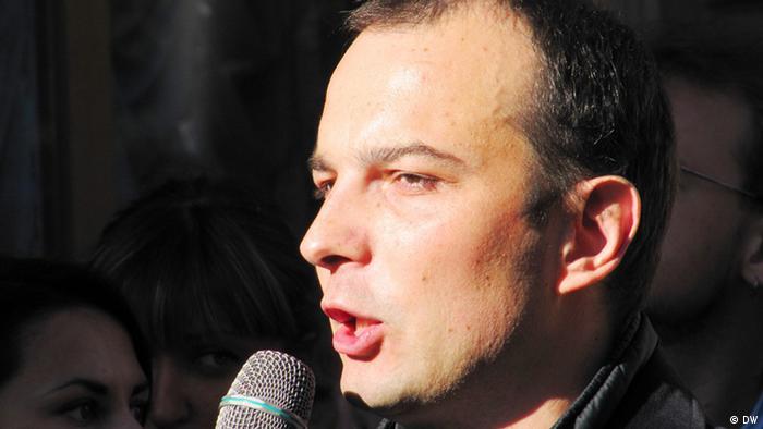 Єгор Соболєв за часів протестів проти цензури у 2012 році