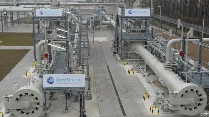 Конечноая точка газопровода Северный поток в Германии
