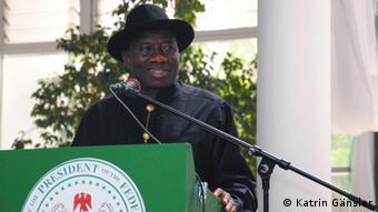 Präsident Goodluck Jonathan (Katrin Gänsler)