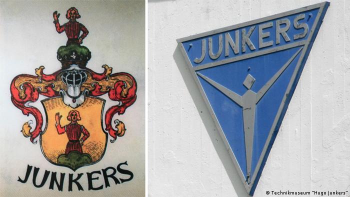 Семейный герб Юнкерсов и эмблема фирмы Юнкерс