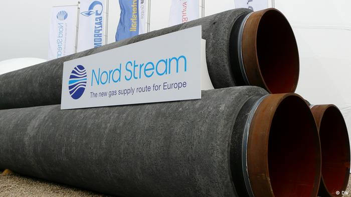 Газопроводные трубы с надписью Северный поток