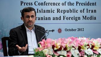 محمود احمدینژاد در کنفرانس خبری خود به شدت از علی لاریجانی انتقاد کرده بود