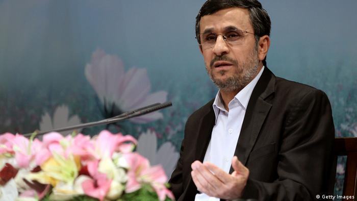 Iranian President Mahmoud Ahmadinejad holds a press conference in Tehran on October 2, 2012 (Photo: AFP)