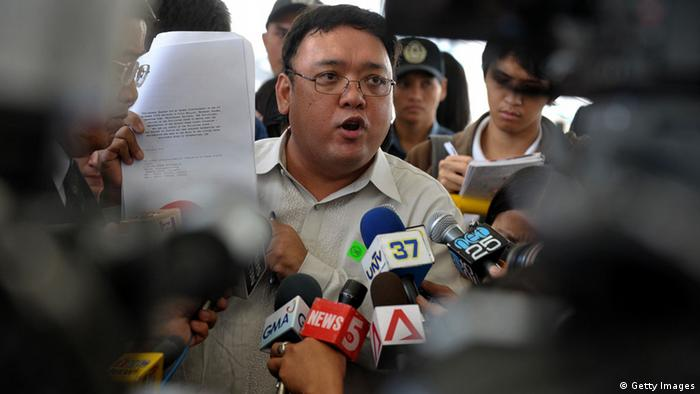 Harry Roque, a Philippine human rights lawyer (Photo: JAY DIRECTO/AFP/Getty Images)
