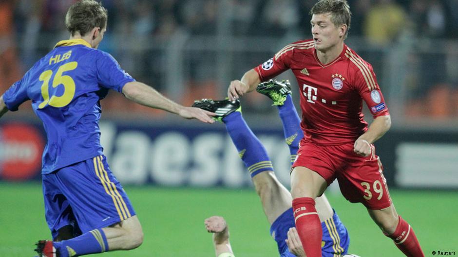 Футбол лига чемпионов бате бавария голы