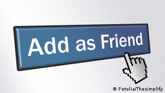 Symbolbild Button Add as Friend
