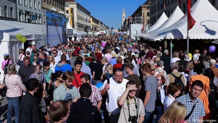 Толпа народу в Мюнхене