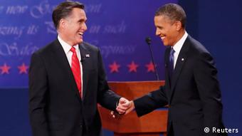 TV Duell Barak Obama Mitt Romney Denver USA