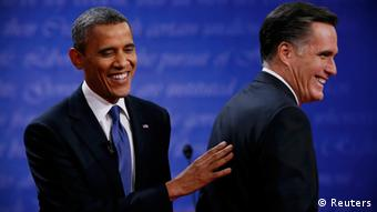 Mitt Romney and Barack Obama (photo: REUTERS/Kevin Lamarque)
