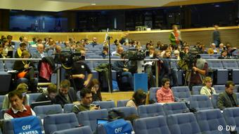 The European Commission press room (Photo: Joanna Impey)