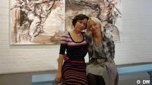 Kunstausstellung Ukrainische Künstlerinnen Lesya Ortynska und Tanya Kolinko Die Kunstausstellung heißt Zwei Künstlerrinen - Zwei Welten Sie war im Kölner Kultur Bunker (Mülheim) am 2. Oktober 2012 Foto: Natalia Marianchyk, Köln, Oktober 2012