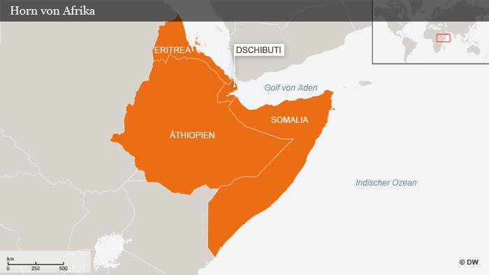 Karte Horn von Afrika