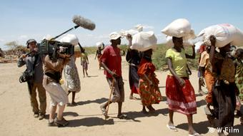 Shooting documentary film with the Turkana. Photo: Lichtfilm