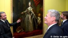 Joachim Gauck bei Ausstellungseröffnung Russen & Deutsche. 1000 Jahre Kunst, Geschichte und Kultur