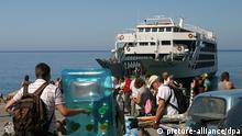 Griechenland Wirtschaft Tourismus Südküste von Kreta Fähre