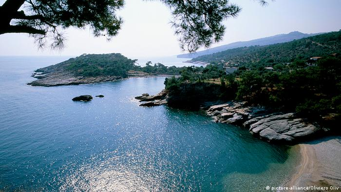 Thassos of the Aegean Islands in Greece