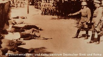 Erschießungen durch ein Wehrmachtskommando in Pancewo bei Belgrad (Foto: DW)