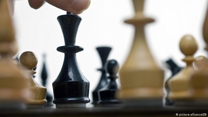 Nahaufnahme von Schachfiguren. (picture-alliance/ZB)