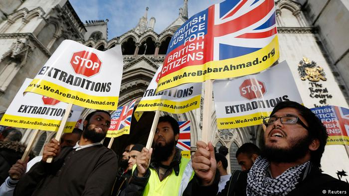 A group of protesters in London (Reuters)