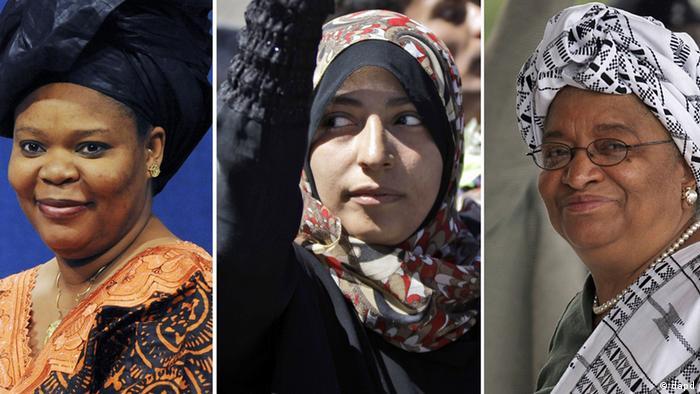 Friedensnobelpreis 2011 Leymah Gbowee Tawakkul Karman und Ellen Johnson Sirleaf