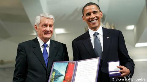 Obama with the Nobel Peace Prize