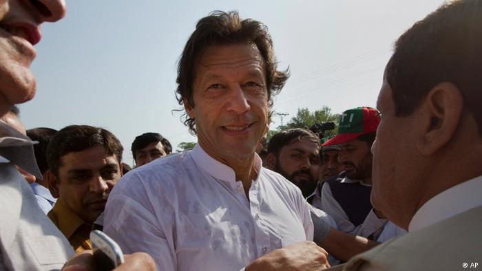 Imran Khan at a demonstration in Islamabad, Pakistan Pakistan (AP)