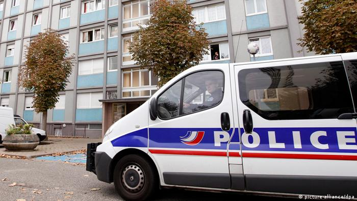 French police van