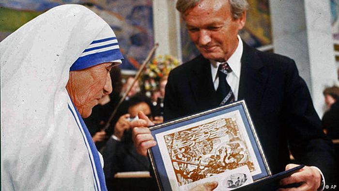 Trabalho em prol dos desfavorecidos lhe garantiu Prêmio Nobel da Paz em 1979
