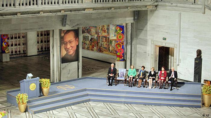 Liu Xiaobo is awarded the Nobel Peace Prize in Oslo