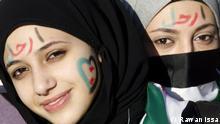 Syrien Demonstrantinnen Aleppo
