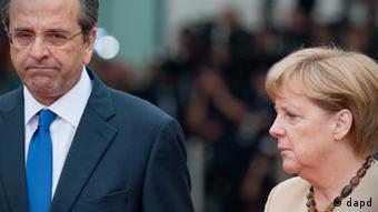 Merkel with Greek PM Samaras
