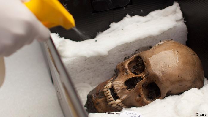 Crânio de asteca no México