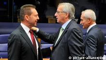 EU Eurogruppe Treffen Finanzminister Stournaras Juncker