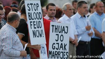 Albanien Blutrache Proteste der Jugend Archivbild