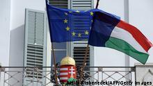 EU Ungarn Flaggen Budapest