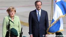 Griechenland Angela Merkel Ankunft in Athen mit Antonis Samaras